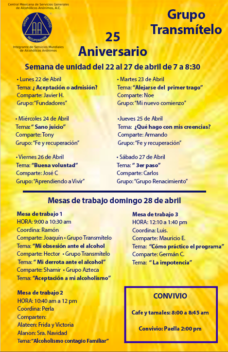 XXV ANIVERSARIO - Grupo Transmítelo