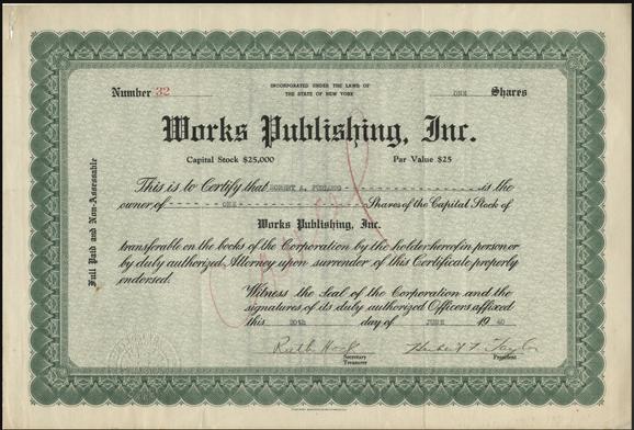 Certificado de Acciones